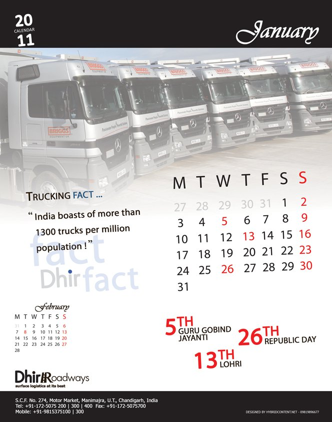 Corporate Calendars & Diaries   Content Writers in Mumbai